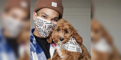 dog bandanas matching face mask