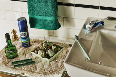 The Home Alone bathroom setup