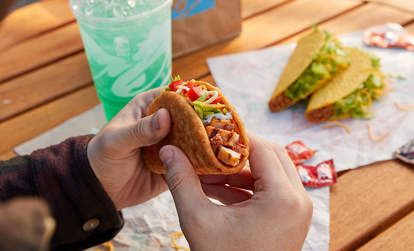 Taco Bell's Bacon Club Chalupa Combo