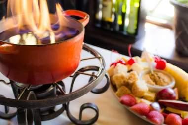 Geja's Cafe chocolate fondue