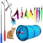 M JJYPET Retractable Cat Toy Wand