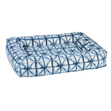 Shibori Microvelvet Divine Futon Dog Bed