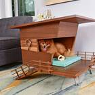 A dog house with a deck (and room for wine on top)
