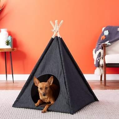 Denim Pet Tent