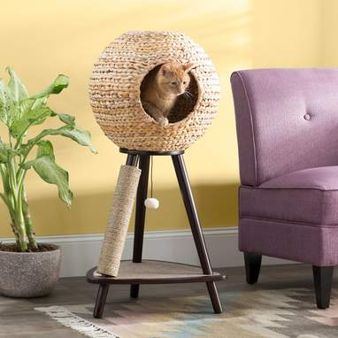 Cat Orb With Scratching Post