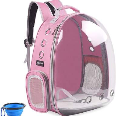 Cat Bubble Backpack With Portable Bowl