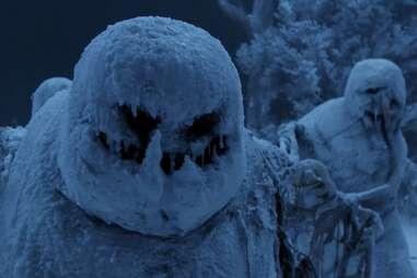 krampus, scary snowmen