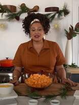 Watch Michelle Buteau Cook a Savory Sweet Potato Bake