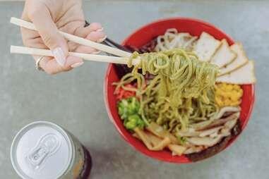 Lifting Noodles Ramen