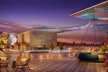 Moxy's Rooftop Pool & Outdoor Screening Room