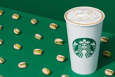 hot Pistachio Latte at Starbucks