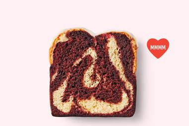 Red Velvet Vanilla Cake Loaf at Starbucks