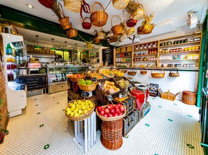 galioto's family delicatessen market and pantry area