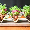 Jackfruit tacos at Blossom restaurant