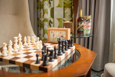 A playable chess set at the 21c Museum Hotel Lexington