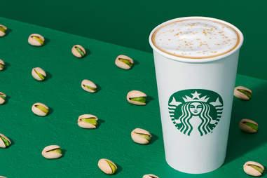 Hot Pistachio Latte from Starbucks