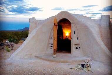 Off-grid Adobe Dome