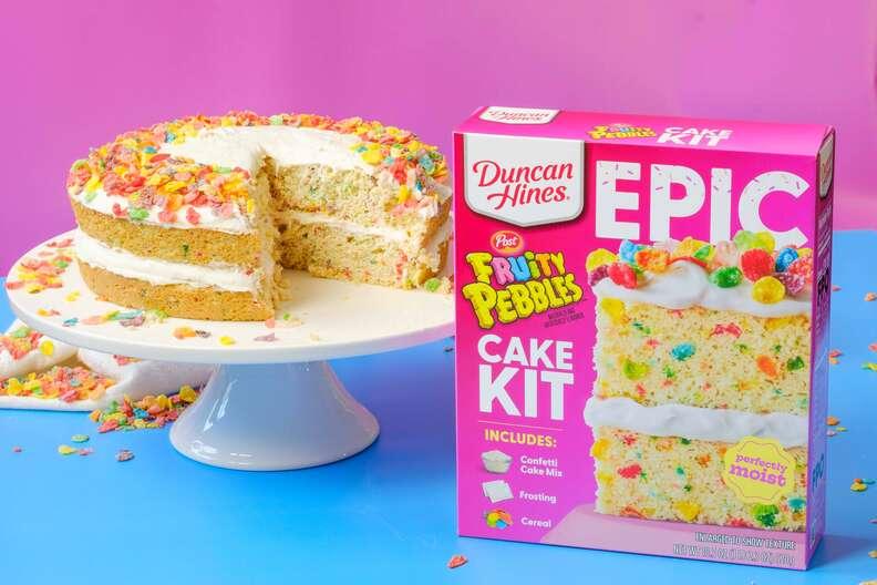 Duncan Hines EPIC Fruity Pebbles Baking Kit