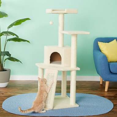 Faux Fur Cat Tree And Condo