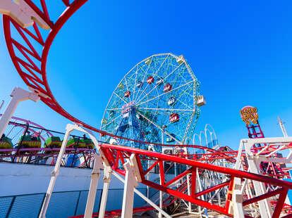 Coney Island rollercoaster amusement park
