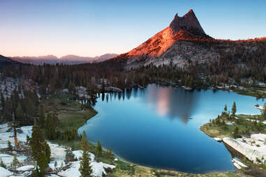 cathedral peak mountain