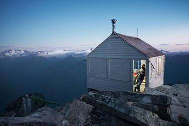 North Cascades National Park cliff cottage