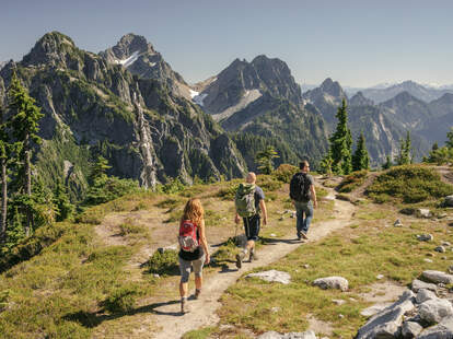 North Cascades National Park hikers