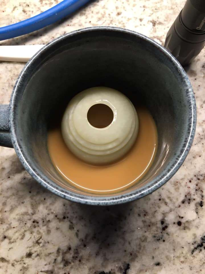 ball in coffee cup