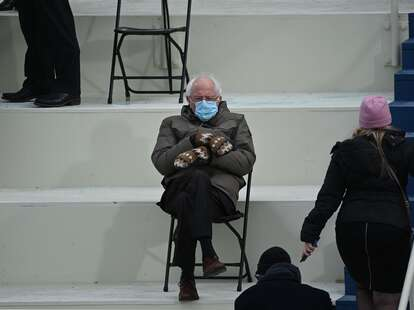 bernie at the inauguration