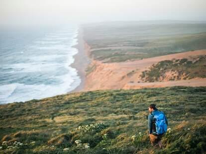 beachside hiker