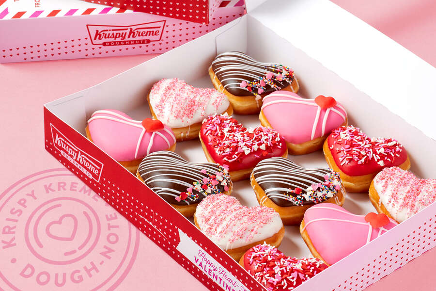 You'll Have Heart Eyes for Krispy Kreme's New Valentine's Day Donuts
