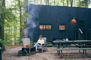cabin outdoors