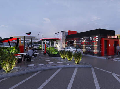 A rendering of Checkers' new planned Florida location.