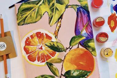 Acrylic fruits painting