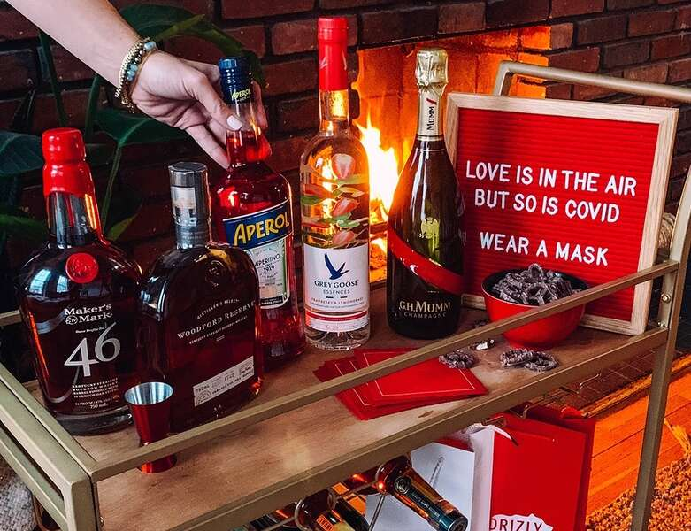 Snag $5 off Your Next Booze Delivery With Drizly's Valentine's Day Deal