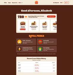 Burger King Royal Perks screenshot