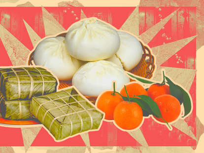 lunar new year chefs eating food celebration