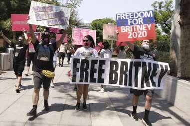 #freebritney march, framing britney spears