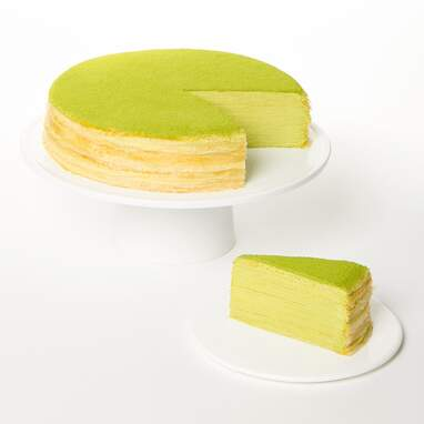 Lady M's Confections Green Tea Mille Crêpes Cake