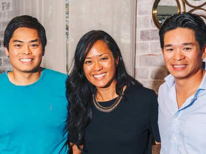 Ron, Anita, and Howard Hsu at Lazy Betty