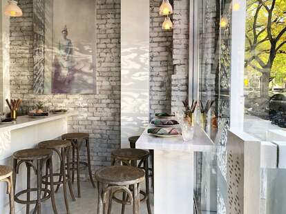 Rangoon indoor dining room in Crown Heights