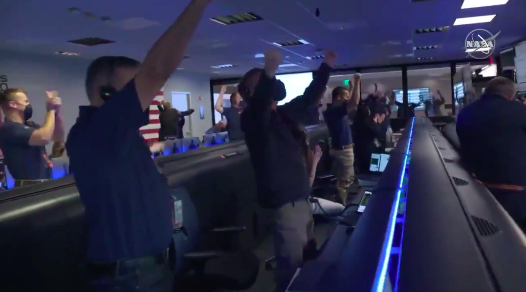 Watch the Moment NASA Celebrated the Perseverance Rover's Safe Landing on Mars