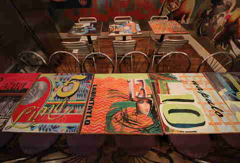 The decked out tables at Jeepney