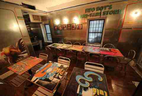 The funky interior at Jeepney