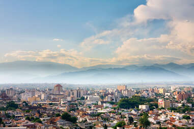 salta city aerial view