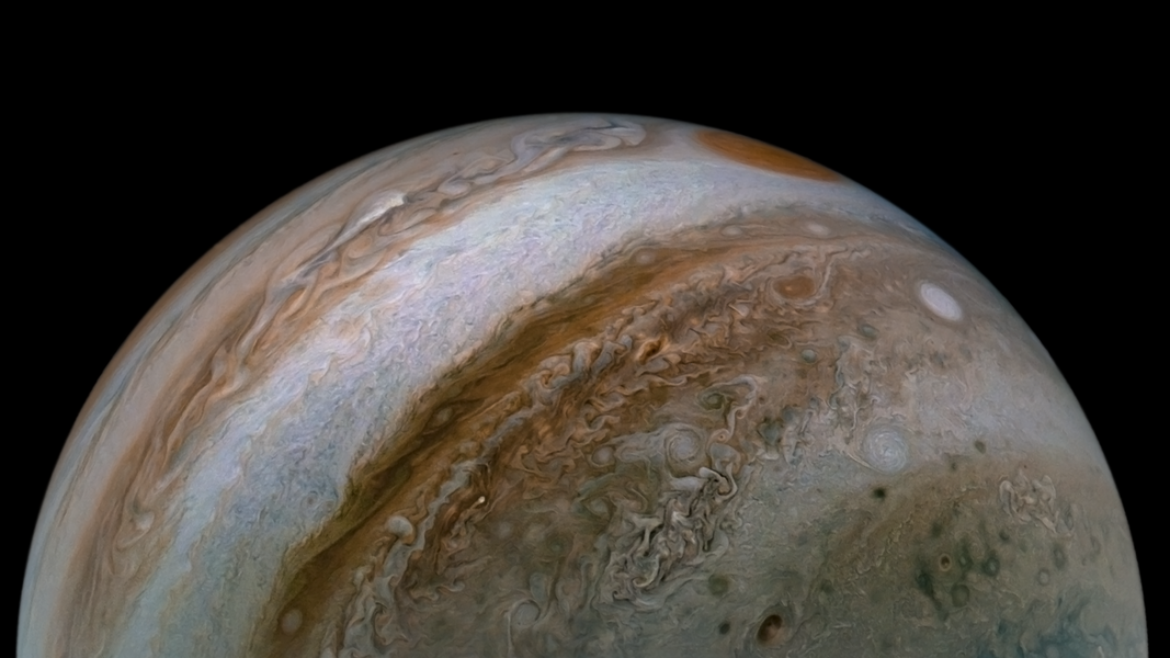 Gorgeous Image From NASA Probe Shows Deep Jet Streams in Jupiter's Atmosphere