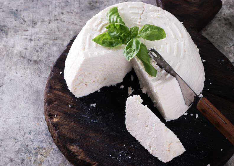 Ricotta soft cheese block