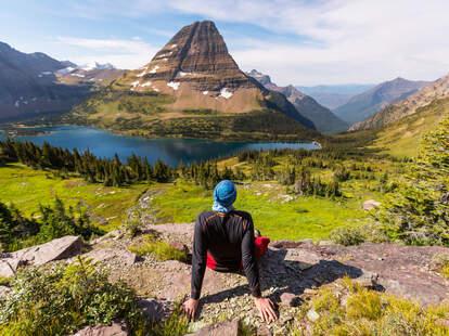 Glacier National Park hiker