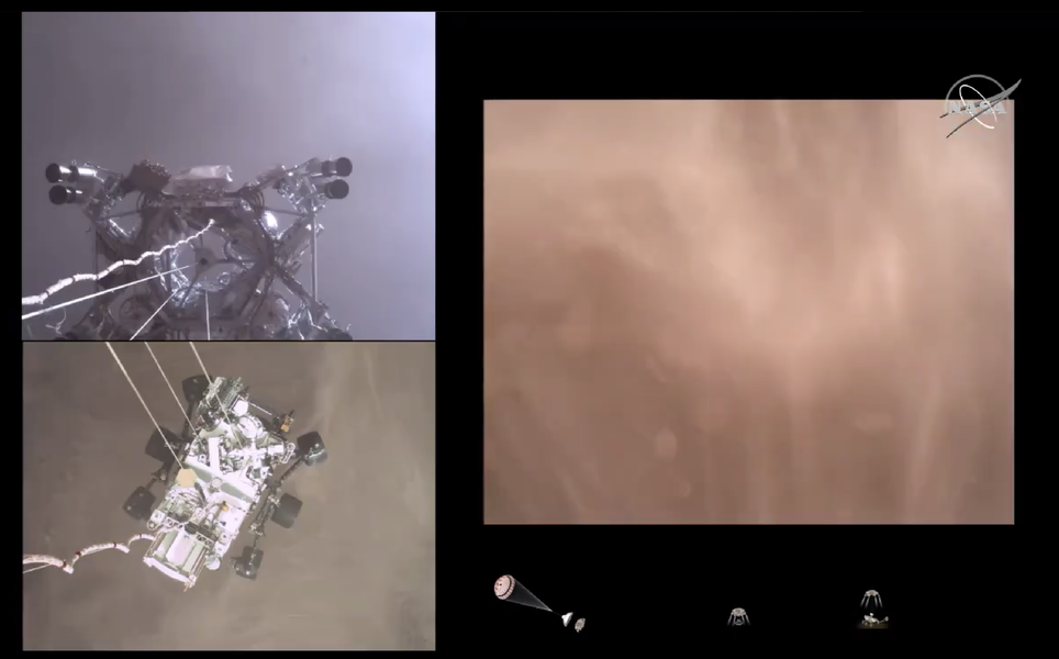 'First-of-Its-Kind' Video Shows NASA Rover's Spectacular Landing on Mars