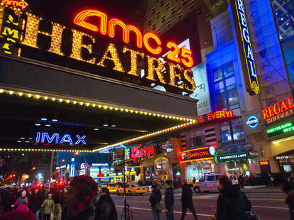 NYC AMC and Regal movie theaters in Times Square